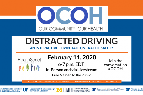 Distracted Driving save the date February 11 at 6 p-m