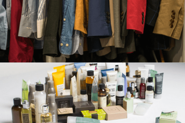 clothing and toiletry