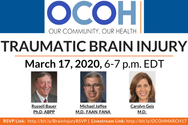 Our Community, Our Health Town Hall on Traumatic Brain Injury