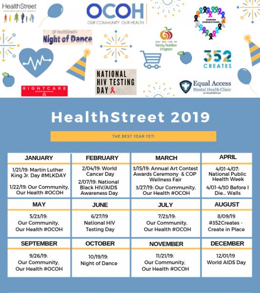 HealthStreet Monthly Calendar